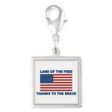 Land Of The Free Thanks To The Brave Charms