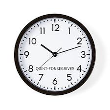 Quint-Fonsegrives Newsroom Wall Clock
