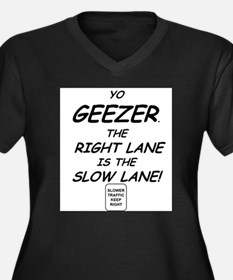 Geezers get in the slow lane Women's Plus Size V-N