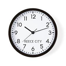 Reece City Newsroom Wall Clock