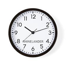 Rhinelander Newsroom Wall Clock