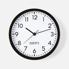 Rippy Newsroom Wall Clock