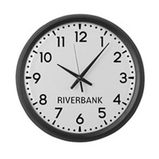 Riverbank Newsroom Large Wall Clock