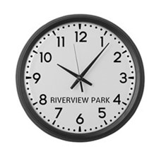 Riverview Park Newsroom Large Wall Clock