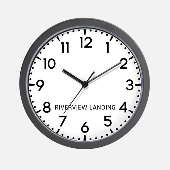 Riverview Landing Newsroom Wall Clock