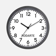 Rodarte Newsroom Wall Clock