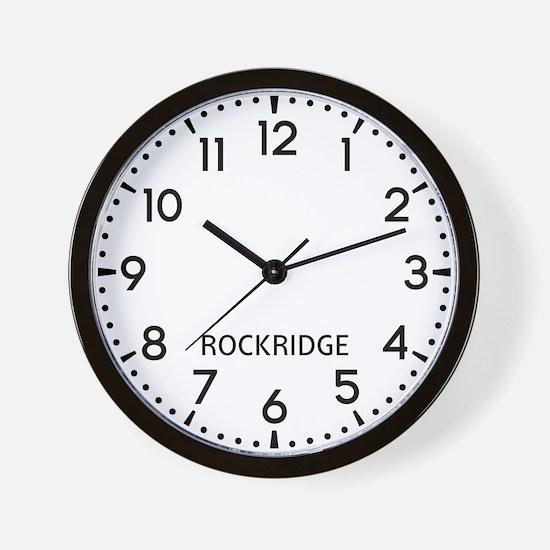 Rockridge Newsroom Wall Clock