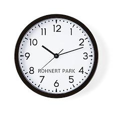Rohnert Park Newsroom Wall Clock