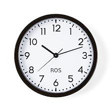 Ros Newsroom Wall Clock