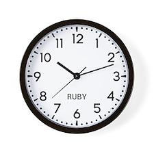 Ruby Newsroom Wall Clock