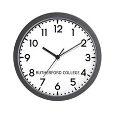 Rutherford College Newsroom Wall Clock