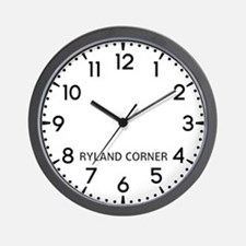 Ryland Corner Newsroom Wall Clock