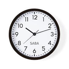 Saba Newsroom Wall Clock