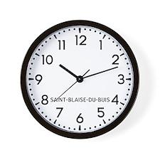 Saint-Blaise-Du-Buis Newsroom Wall Clock