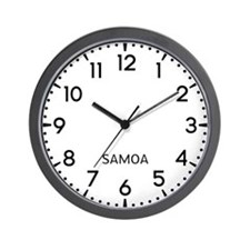 Samoa Newsroom Wall Clock