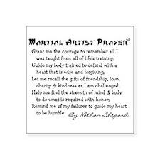 """Martial Arts Square Sticker 3"""" x 3"""""""