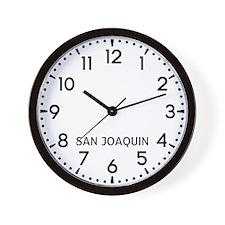 San Joaquin Newsroom Wall Clock