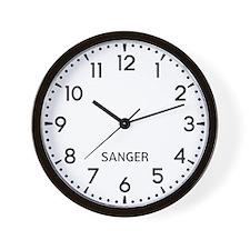 Sanger Newsroom Wall Clock