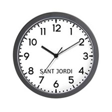 Sant Jordi Newsroom Wall Clock