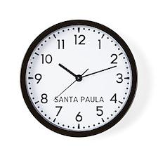 Santa Paula Newsroom Wall Clock