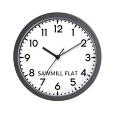 Sawmill Flat Newsroom Wall Clock