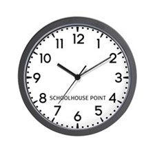 Schoolhouse Point Newsroom Wall Clock