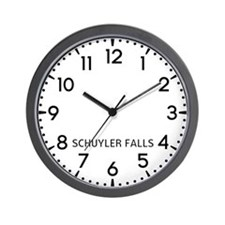 Schuyler Falls Newsroom Wall Clock