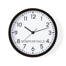 Schuyler Falls Newsroom Wall Clock