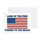 Home of the free thanks to the brave Greeting Cards (20 Pack)