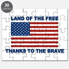 Land Of The Free Thanks To The Brave Puzzle