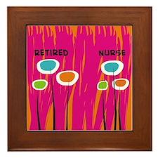 Retired Nurse AB Framed Tile