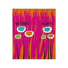 Retired Nurse AB Throw Blanket
