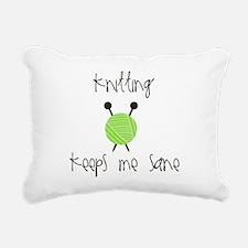 Knitting Keeps Me Sane Rectangular Canvas Pillow