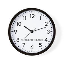 Sepulcro-Hilario Newsroom Wall Clock