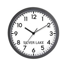 Silver Lake Newsroom Wall Clock