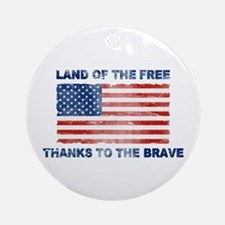 Land Of The Free Thanks To The Brave Ornament (Rou