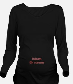 Future 5k Red Long Sleeve Maternity T-Shirt