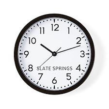 Slate Springs Newsroom Wall Clock