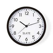 Slate Newsroom Wall Clock