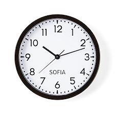 Sofia Newsroom Wall Clock