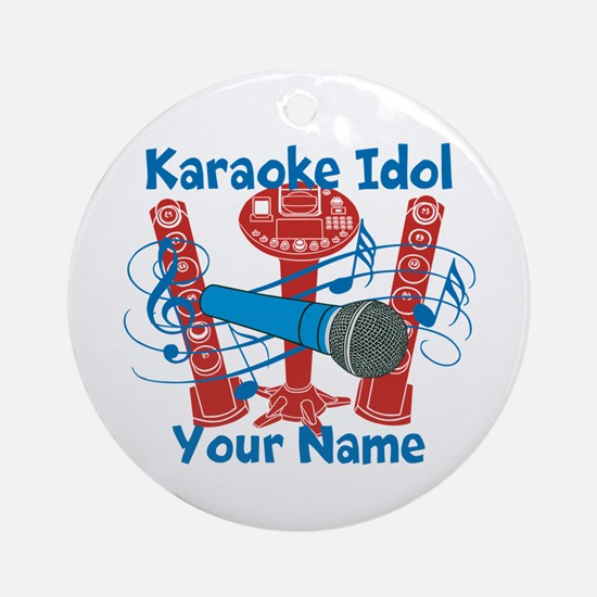 Personalized Karaoke Ornament (Round)
