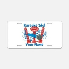 Personalized Karaoke Aluminum License Plate
