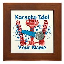 Personalized Karaoke Framed Tile