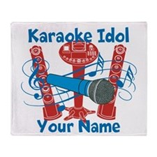 Personalized Karaoke Throw Blanket