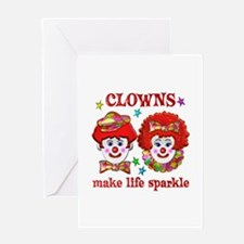 CLOWNS Sparkle Greeting Card