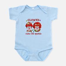 CLOWNS Sparkle Infant Bodysuit