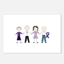 Alzheimers Stick Figures Postcards (Package of 8)