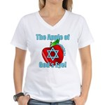 Apple God's Eye Women's V-Neck T-Shirt