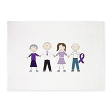 Alzheimers Stick Figures 5'x7'Area Rug