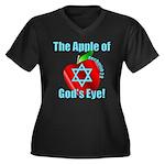 Apple God's Eye Women's Plus Size V-Neck Dark T-Sh